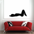 Relaxing Woman Silhouette Decal