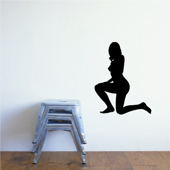 Take a Knee Woman Silhouette Decal