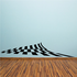 Checkered Pattern Wall Decal - Vinyl Decal - Car Decal - CF8030