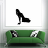Leaning Back Nude Woman Silhouette Decal