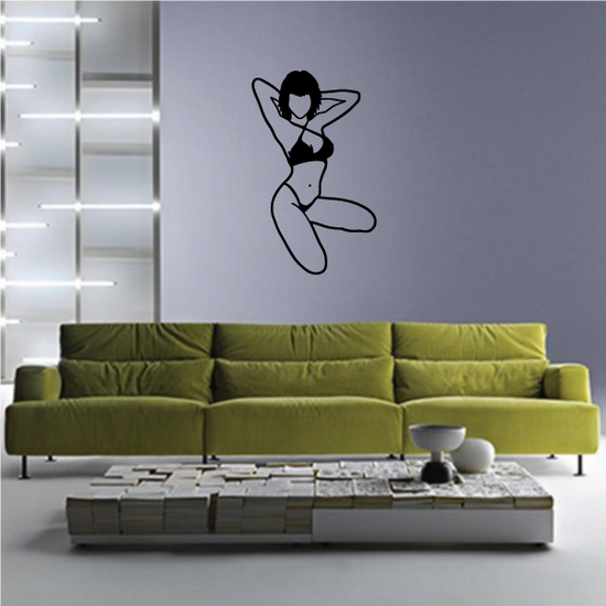 Woman in Swimsuit Decal