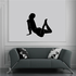 Arched Back Woman Silhouette Decal