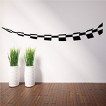 Checkered Pattern Wall Decal - Vinyl Decal - Car Decal - CF8035