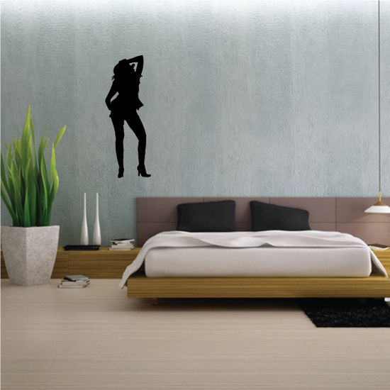 Dancing Cowgirl Silhouette Decal