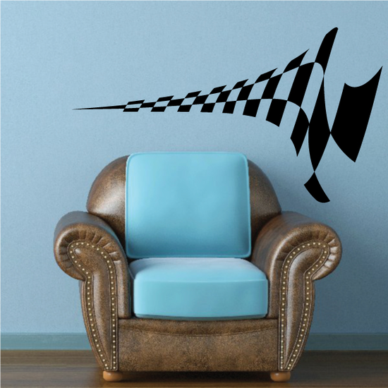Checkered Sides Wall Decal - Vinyl Decal - Car Decal - CF12003