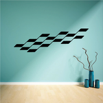 Checkered Sides Wall Decal - Vinyl Decal - Car Decal - CF12004