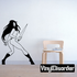 Fierce Topless Woman with Sword Decal