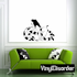 Nude Woman Crawling with Snake Decal