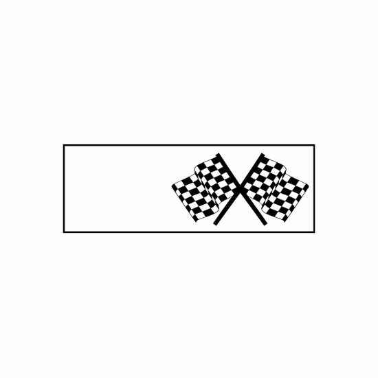 Racing Flag Flags Car Window Vinyl Decal Sticker Stickers 02