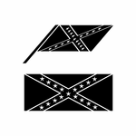 Confederate Racing Flag Flags Car Window Vinyl Decal Sticker Stickers 04