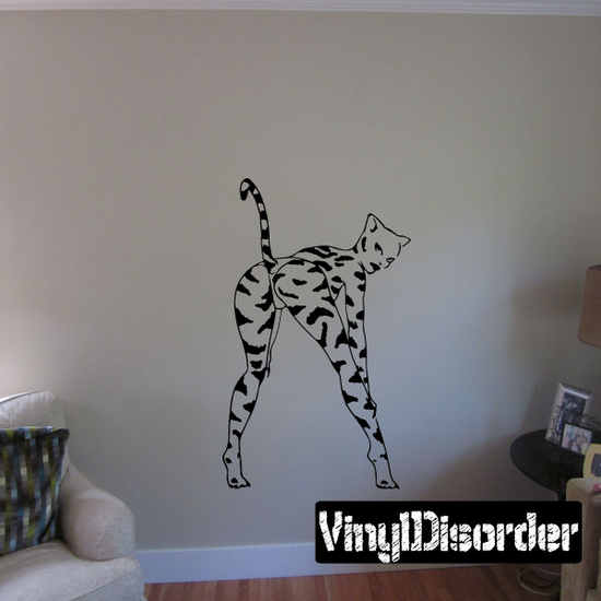 Striped Cat Girl Decal