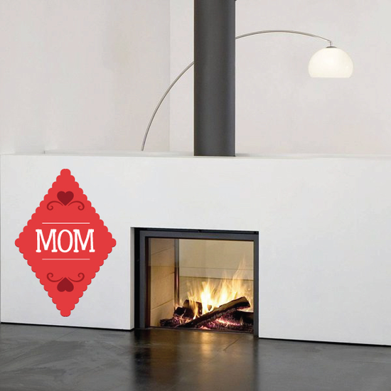 Mom Mothers Day Diamond Style Sticker