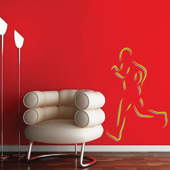 Track And Field Wall Decal - Vinyl Sticker - Car Sticker - Die Cut Sticker - CDSCOLOR042