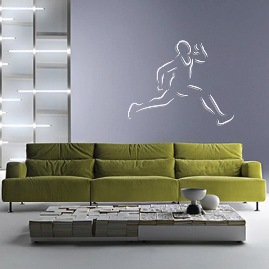 Track And Field Wall Decal - Vinyl Sticker - Car Sticker - Die Cut Sticker - CDSCOLOR045