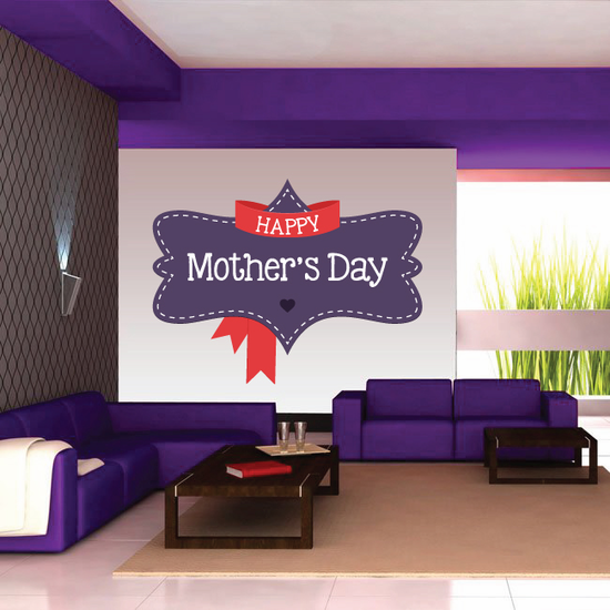 Retro Banner Style Happy Mother's Day Sticker