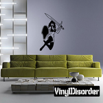 Leaping Warrior Woman Decal