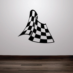 Race Flags Wall Decal - Vinyl Decal - Car Decal - DC003