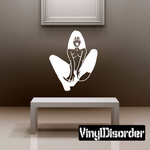 Nude Woman in Nylons Sitting Decal