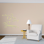 Track And Field Wall Decal - Vinyl Sticker - Car Sticker - Die Cut Sticker - CDSCOLOR052