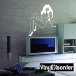Attentive Nude Woman in Heels Decal