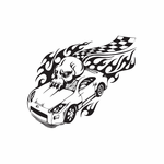 Racing Graphic Wall Decal - Vinyl Decal - Car Decal - DC 23016