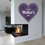 Heart Happy Mother's Day Dotted Sticker