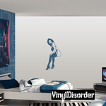 Sitting Woman in Lingerie and Heels Decal