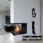 Woman with Crossed Arms in Lingerie Decal
