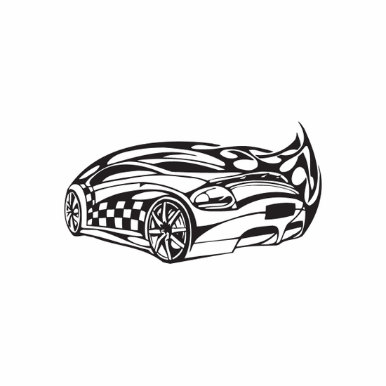 Racing Graphic Wall Decal - Vinyl Decal - Car Decal - DC 23051