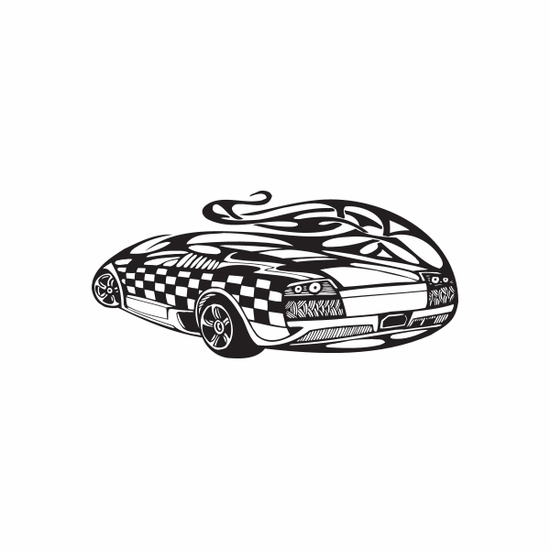 Racing Graphic Wall Decal - Vinyl Decal - Car Decal - DC 23063