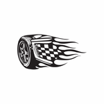 Racing Graphic Wall Decal - Vinyl Decal - Car Decal - DC 23084