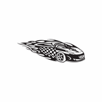 Racing Graphic Wall Decal - Vinyl Decal - Car Decal - DC 23091