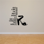 Give A Girl The Right Shoes and She Can Conquer The World Marilyn Monroe Wall Decal