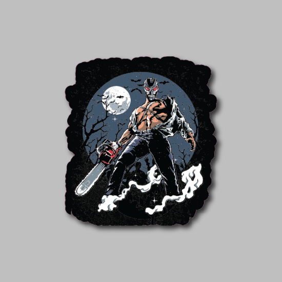 Chainsaw Terminator Sticker