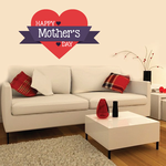 Heart Banner Style Happy Mother's Day Decal