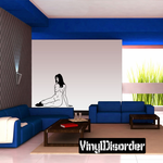 Sitting Nude Woman with Socks Decal
