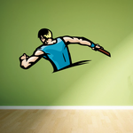 Track And Field Wall Decal - Vinyl Sticker - Car Sticker - Die Cut Sticker - CDSCOLOR087