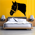 Thoroughbred Horse with Bridle Decal