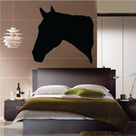 Thoroughbred Horse Silhouette Head Decal