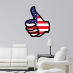 America Flag Thumbs Up Sticker