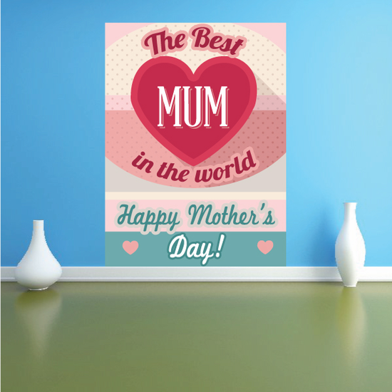The Best Mum In The World Mother's Day Sticker