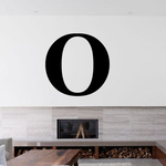 Omicron Greek Letter Decal