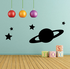 Saturn and Stars Decal