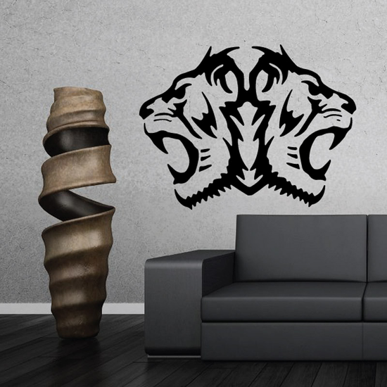 Noble Double Tiger Head Decal