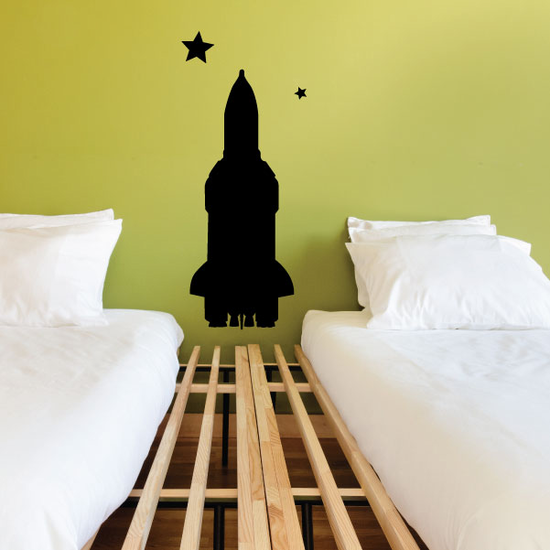 Space Shuttle in Space Decal