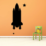 Space Shuttle Flying through Space Decal