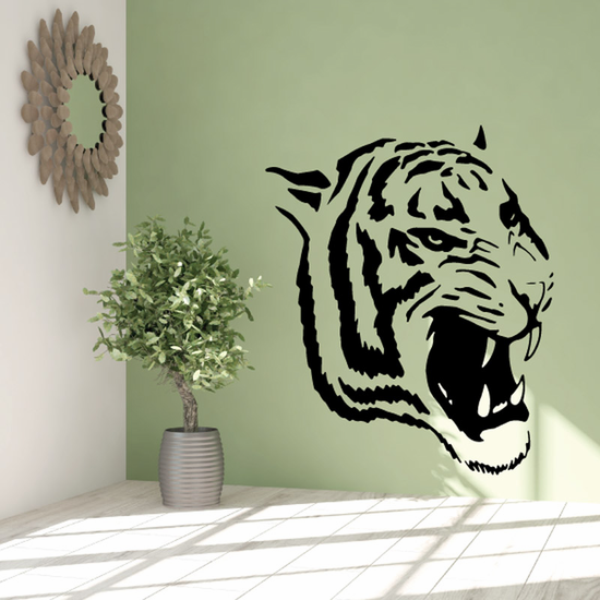 Angry Tiger Head Decal