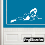 Nude Woman Reclining in Socks Decal