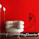 Light Hair Nude Woman Sitting Decal