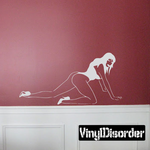 Crawling Woman in Leotard and Heels Decal